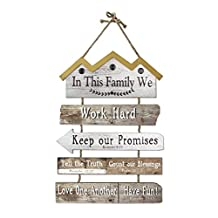"Young's 16840 In this Family Wooden Wall Art Sign, 20"" x 0.75"" x 28.75"""