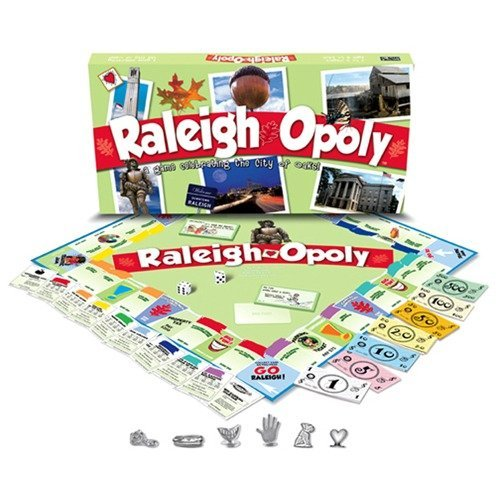 (Late for the Sky Raleigh-Opoly Board Game)