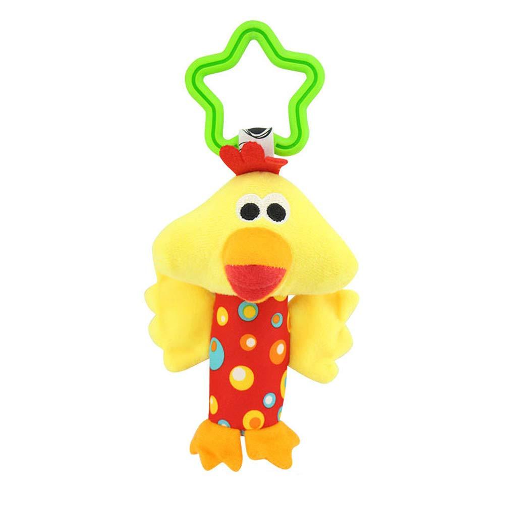 Vi.yo 3pcs Baby Pram Hanging Rattles Stroller Crib Handbells Toys Cute Chicken