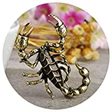 HAOPIANLIANG Exaggeration Purple Scorpion Brooches for Women Suit Clothes Jewelry Enamel Insect Centipede Brooch Hijab Pins Bijoux Pure Gold Color