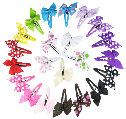 Hipgirl Boutique Baby Girls Toddler Hair Bow Snap Alligator Clips, Barrettes