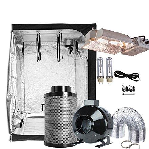 TopoGrow Grow Tent Kit Setup Complete Package CMH 630W 3100K Enclosed Kit +60
