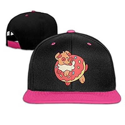 Muchess Unisex Hip-hop Caps Cartoon Donuts and Cute Dogs Snapback Baseball Cap Adjustable Sports Hats