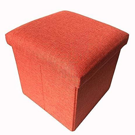 Amazoncom Geartist GOO1 Linen Folding Organizer Storage Ottoman
