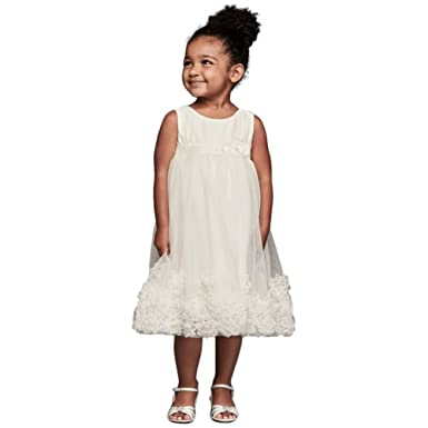 3b510a53528 Amazon.com  3D Pearl Blossom Tulle Flower Girl Communion Dress Style ...