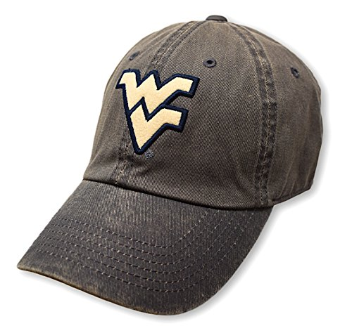 (Top of the World NCAA West Virginia Mountaineers Men's Adjustable Dispatch Charcoal Icon Hat, Charcoal)