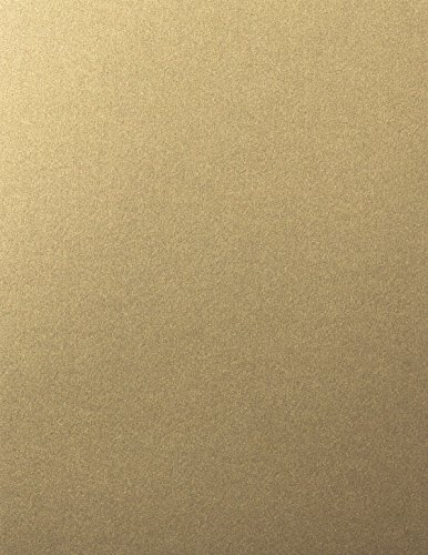 Gold leaf Shimmery Metallic Cardstock, 8 1/2 x 11 (50 Sheets) from Paper and More