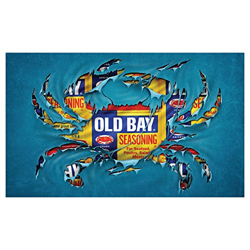 Old Bay Seafood Seasoning Licensed Crab Breakthrough Door Mat