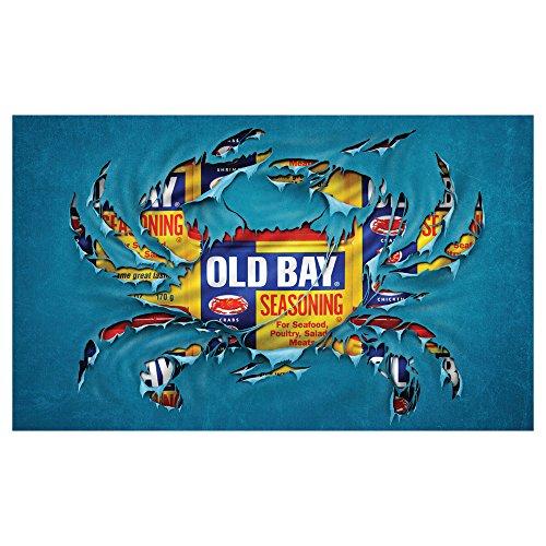 Old Bay Seafood Seasoning Licensed Crab Breakthrough Door Mat (Old Crab)