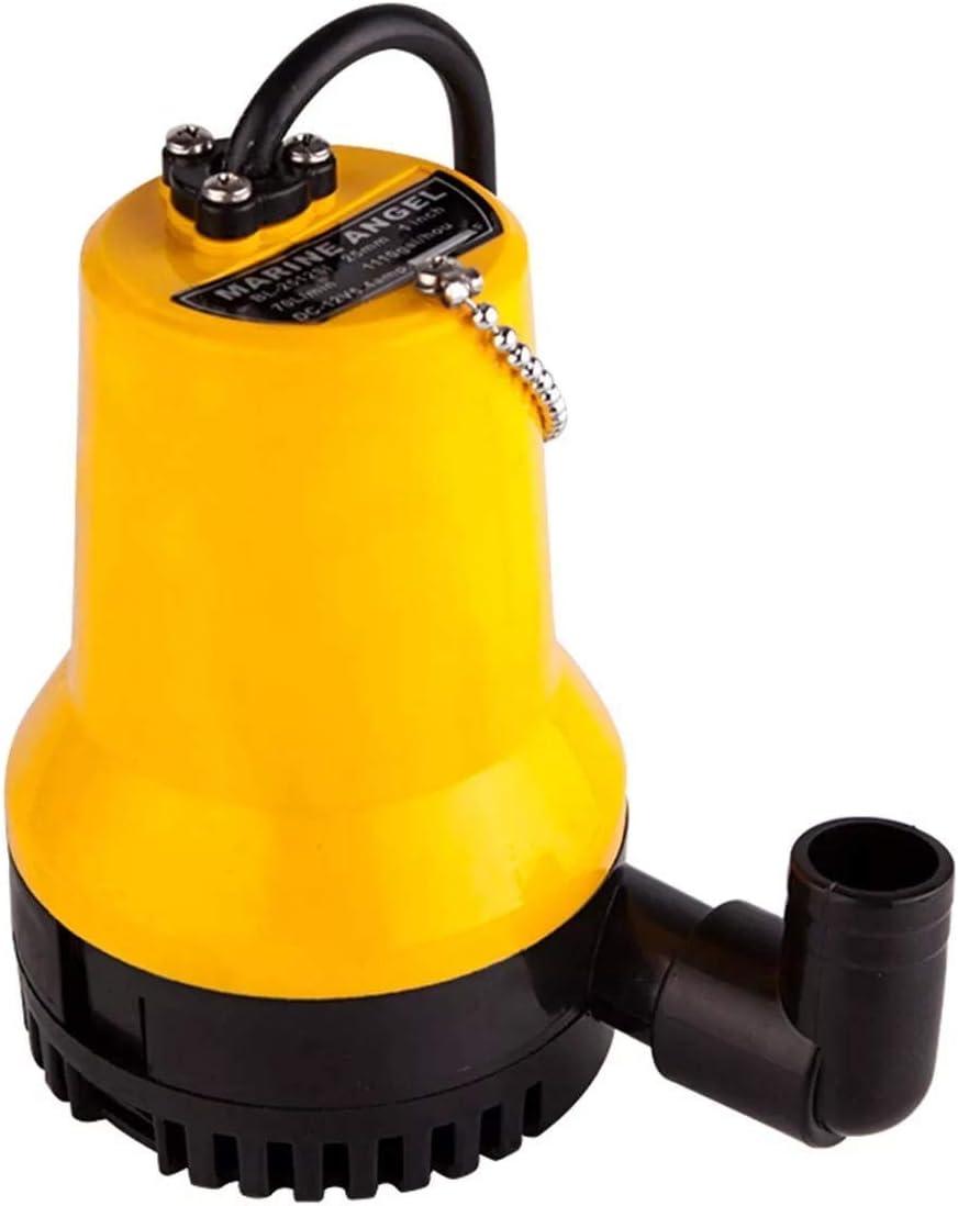 KONGZIR Bomba sumergible eléctrica 24V 4500L / H Miniatura Bomba de agua limpia drenaje de la bomba de agua sucia piscina Pond eléctricas sumergibles for piscinas, sótanos inundados, grandes estanques