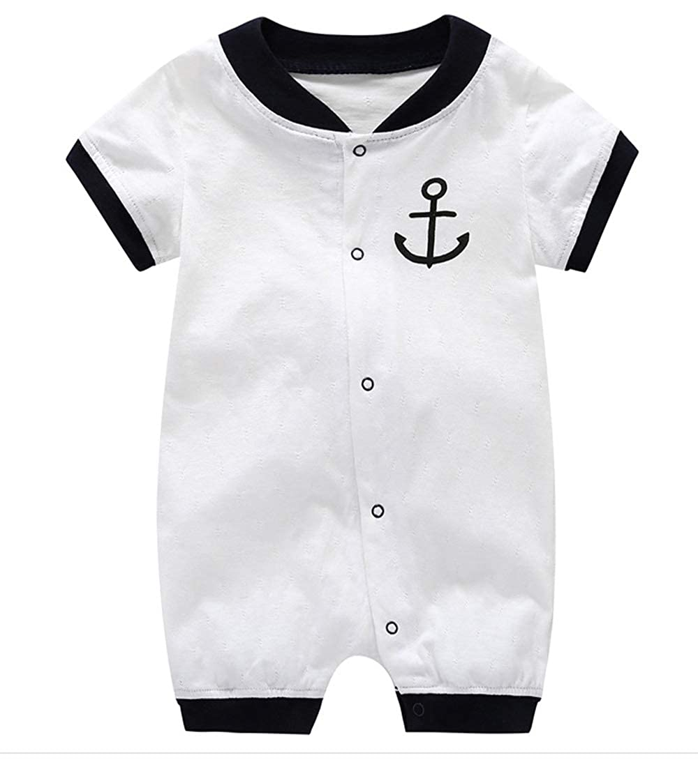 Ttkgyoe Baby Boy Clothes Navy/ Jumpsuit Short Sleeve Romper One Piece Bodysuit