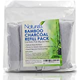 Bamboo Charcoal 5 Pack! Purify The Air, Eliminate Odors and Control Moisture | Naturally Freshen Smelly Areas Such as Closets, Cars, Shoes and Diaper Pails | Five 50g bags for 250g Total!