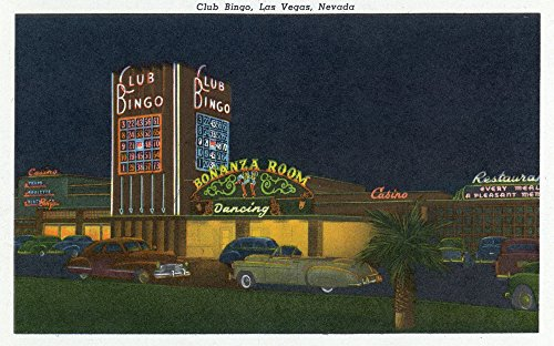(Las Vegas, Nevada - Exterior View of Club Bingo (16x24 SIGNED Print Master Giclee Print w/Certificate of Authenticity - Wall Decor Travel)