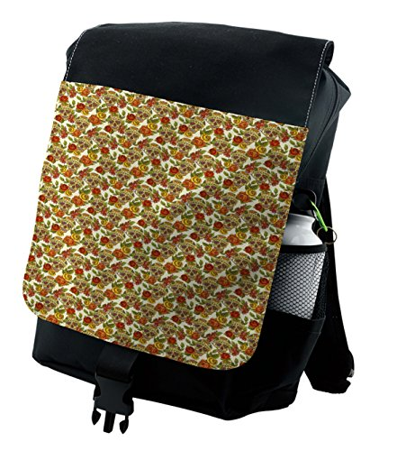 Lunarable Skull Backpack, Mexican Day of the Dead Theme, Durable All-Purpose Bag by Lunarable