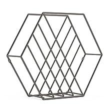 Umbra Zina Revistero Alambre, Metal, Plateado, 38x12x33 cm