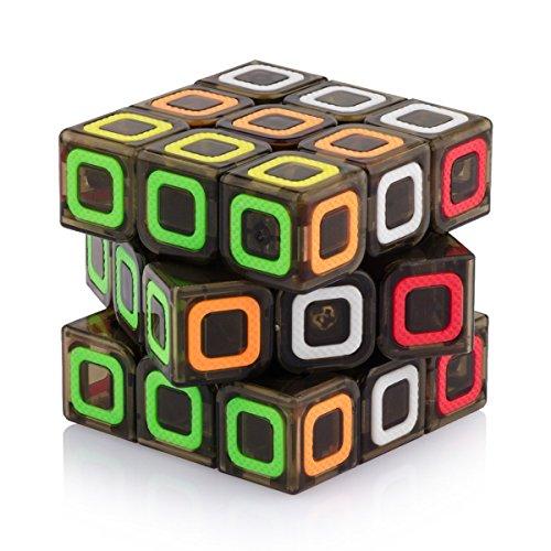 Tollbuy Speed Cube 3x3 Stickerless Smooth Magic Cube Puzzle Transparent Black (Speed Cube China)
