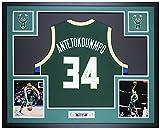 Giannis Antetokounmpo Autographed Green Milwaukee