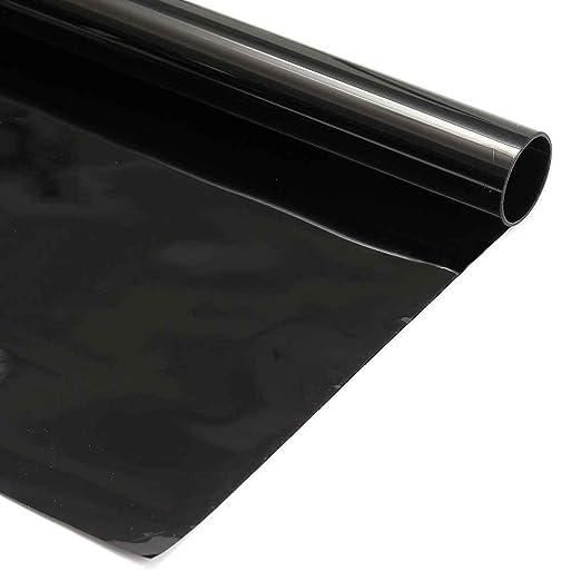 Uzinb 2ply 0.5x3m 5/% 15/% 30/% VLT Negro Oscuro privacidad del hogar del Coche de Cristal de la Ventana Tinte Tinte Vinilo de la pel/ícula del Rollo