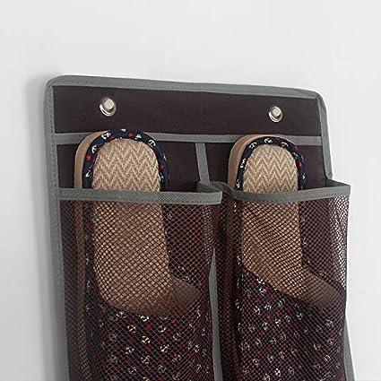 JUNGEN Netz H/ängeaufbewahrung H/ängende Tasche Schuhe Aufbewahrungstasche f/ür Wand T/ür
