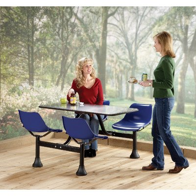Ofm 4-Person Swivel-Style Cafeteria Cluster Seating - 48X24