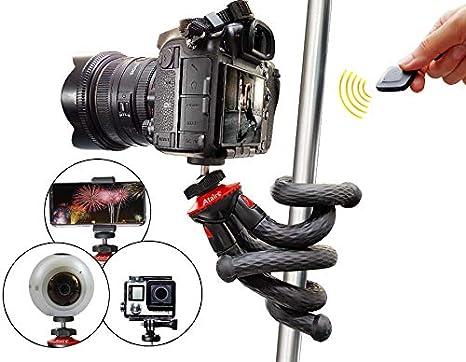 Trípode flexible con Bluetooth, trípode, Selfie Stick, trípode de ...