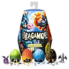 Are you ready to smash into the world of Dragamonz? The ultimate Dragon 6-pack comes with everything needed for the ultimate two-player battle right out of the pack: Four Dragamonz in-egg, two Dragamonz out-of-egg, six Dragon cards and 30 bat...