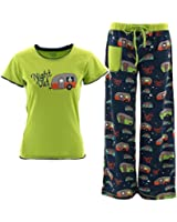 Lazy One Juniors Green Camper Pajamas Night Out