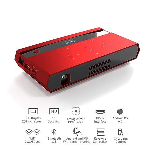 QinLL WiFi Mini proyector LED portátil proyector de vídeo ...