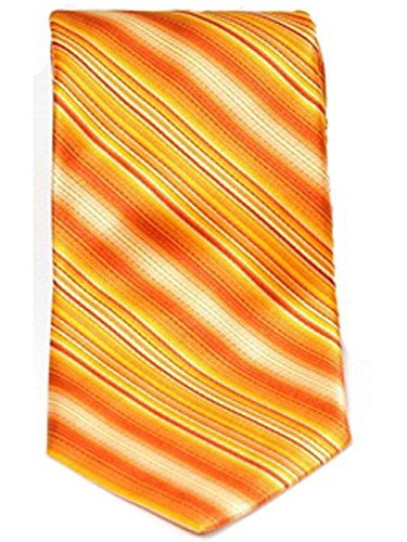 Baker Striped Tie (Ted Baker Gold and Orange Striped Tie)