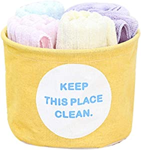 AKIMPE Storage Bin Small Cubes Collapsible Fabric Foldable Organizer Containers Box Basket Tote with Dual Handles for Cloth Home Nursery Office Toys Closet Shelf Drawer
