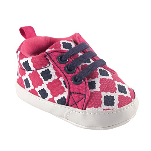 Yoga Sprout Lienzo bebé Impreso Zapatillas morado Purple Lotus Talla:0-6 meses Purple Lotus