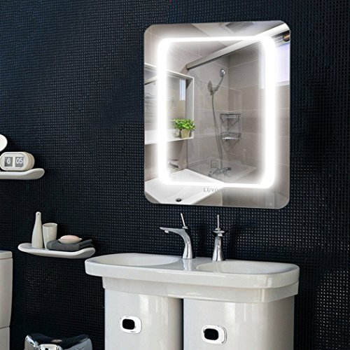LED Lighted Wall Mounted Mirror Backlit Vanity Mirror for Bathroom