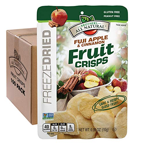 - Brothers-ALL-Natural Fruit Crisps, Fuji Apple & Cinnamon, 0.35 Ounce (Pack of 100)