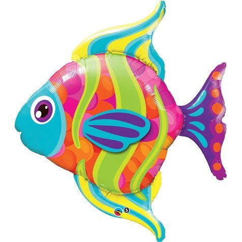 Fashionable Fish Foil Balloon by Qualatex