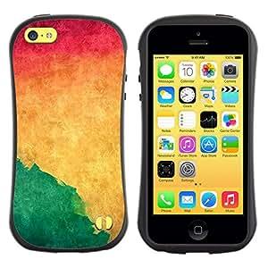 "Pulsar iFace Series Tpu silicona Carcasa Funda Case para Apple iPhone 5C , Acuarela Verde Líquido dinámico Yellow Wallpaper"""
