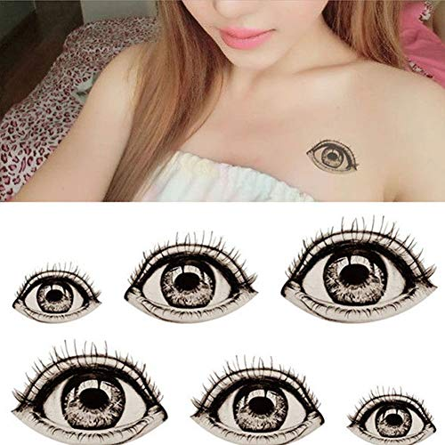CHoppyWAVE 2Pcs Halloween Big Eye Temporary Fake Tattoo Sticker DIY Waterproof Body Art ()