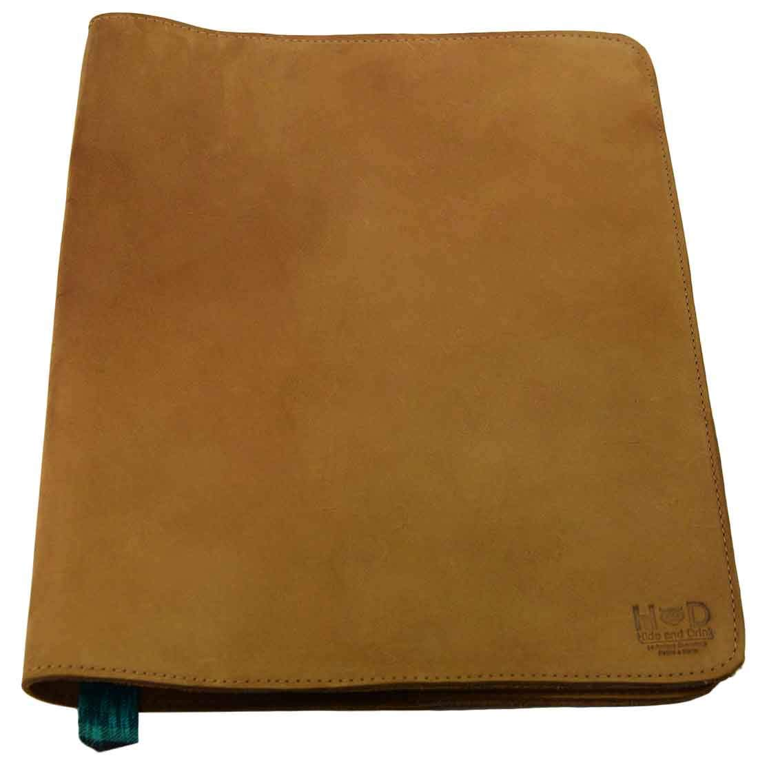 Hide & Drink, Rustic Leather Refillable Journal Cover (Size 8.5 x 11 in.) / Moleskine Cahier XXL Journals w/Típico Strap Handmade :: Old Tobacco