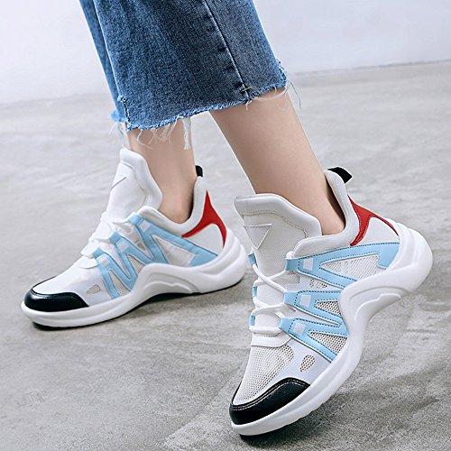 inverno di da blue ginnastica coccodrillo Scarpe sportive casual Scarpe running Light scarpe lacci da autunno pelle 3 running GAOLIXIA in con da per colori donna da 8qP4wCx45