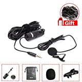 BOYA BY-M1 Lavalier Microphone for Smartphones Canon Nikon DSLR Cameras Camcorders Audio Recorder PC (BY-M1 w Fur Windshield)