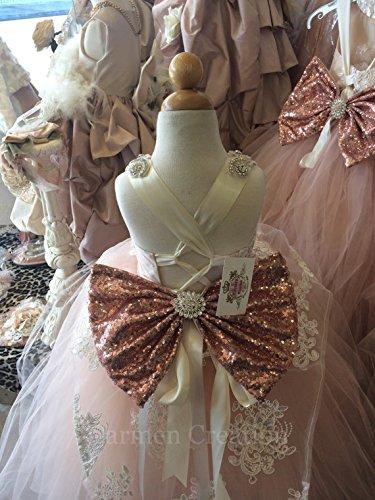Peplum Flower Girl Dress Blush Pink