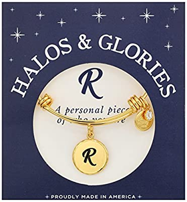 Halos & Glories Initial Bangle Bracelet