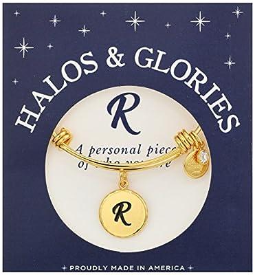 Halos & Glories Initial Bangle Bracelet