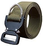 #7: Ayli Men's Tactical Rigger's Web Belt Military Heavy Duty Nylon Quick Release