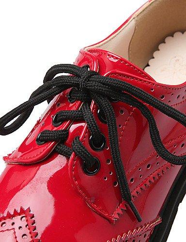 PDX/ Damenschuhe - Ballerinas / Halbschuhe - Outddor / Lässig / Sportlich - maßgeschneiderte Werkstoffe - Flacher Absatz -Komfort / Mary Jane red-us6.5-7 / eu37 / uk4.5-5 / cn37