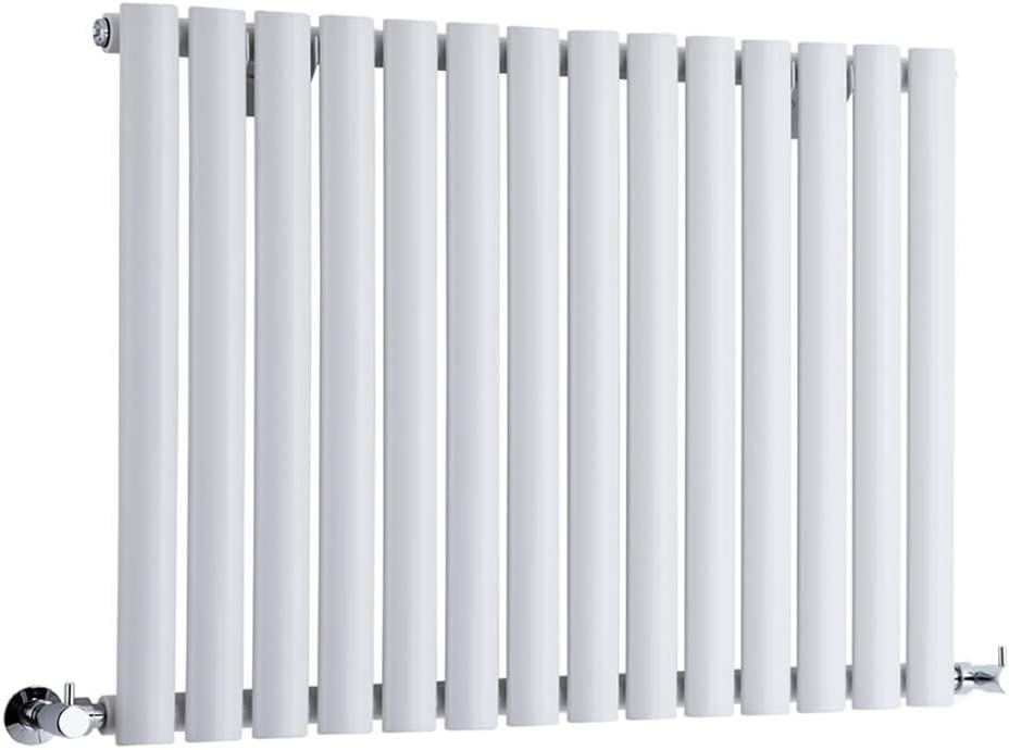 Hudson Reed Radiador Revive Horizontal con Calefacción de Diseño Moderno - Radiador con Acabado en Blanco - Diseño de Columna - 635 x 834mm - 836W - Calefacción