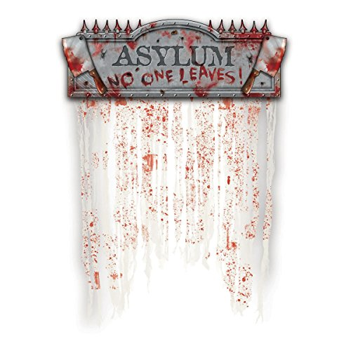Asylum Bloody Doorway Curtain - Halloween Decorations Indoor