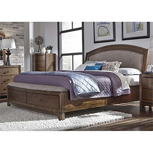 Liberty Furniture Avalon III Queen Storage Bed (705-BR-QSB), Pebble Brown