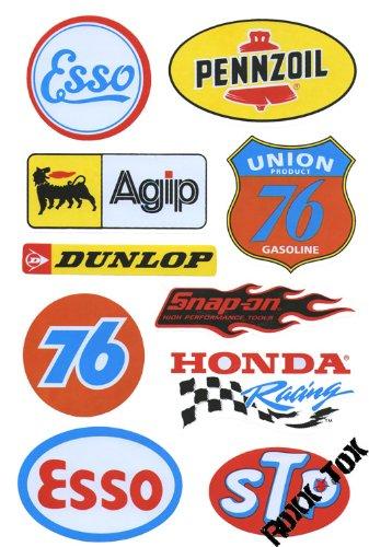 Racing Motorsport Sponsoren Aufkleber Bogen Mit 10 Aufkleber