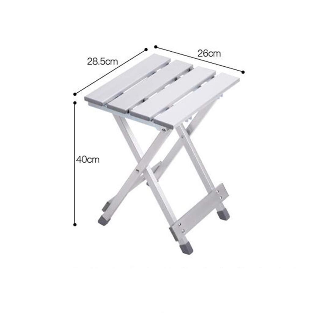 Sgabello da Esterno in Alluminio Sgabello da Pesca Portatile//Sgabello Pieghevole da Spiaggia//Sgabello Quadrato Folding chair Sgabello-Sedia Pieghevole