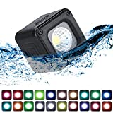 ULANZI L1 Pro Versatile Mini LED Light Waterproof LED Lighting with 20 Color Gels for Smartphone Camera Drone Photography,Video, Underwater,Compatible w DJI OSMO Action Gopro 7 6 5 iPhone DSLR Cameras